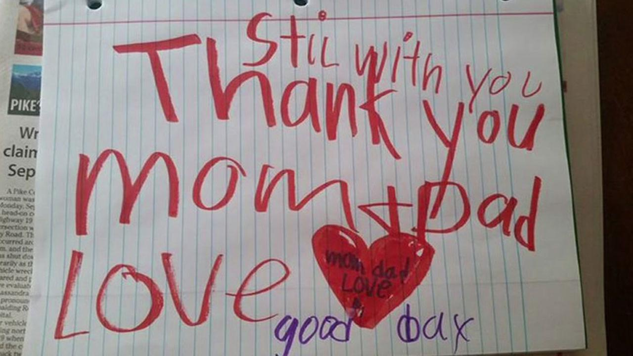 Son, 6, leaves note for grieving parents from beyond the grave