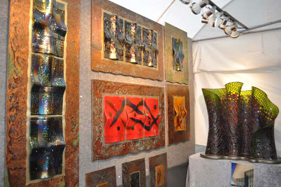 <div class='meta'><div class='origin-logo' data-origin='none'></div><span class='caption-text' data-credit='KTRK Photo/ Gina Larson'>From paintings to sculptures, a variety of works from hundreds of artists were on display in downtown Houston, October 11-12, 2014.</span></div>