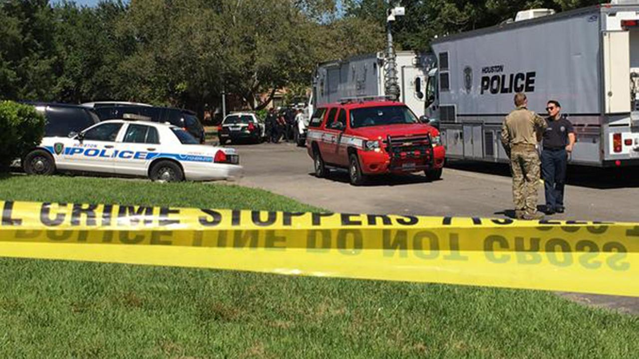 Police say the man who barricaded himself inside a home in southeast Houston is in police custody