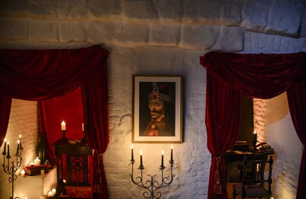 <div class='meta'><div class='origin-logo' data-origin='AP'></div><span class='caption-text' data-credit='AP Photo/Andreea Alexandru'>A portrait of Vlad the Impaler is hung on a wall in Bran Castle, in Bran, Romania.</span></div>