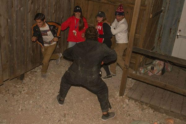 <div class='meta'><div class='origin-logo' data-origin='none'></div><span class='caption-text' data-credit='KTRK Photo/ David Mackey'>Fans of haunted houses got a good scare while walking through Phobia Haunted House in northwest Houston</span></div>