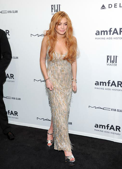 "<div class=""meta image-caption""><div class=""origin-logo origin-image none""><span>none</span></div><span class=""caption-text"">Actress Lindsay Lohan attends amfAR's New York gala at Cipriani Wall Street on Wednesday, Feb. 6, 2013 in New York.  (AP Photo/ Evan Agostini)</span></div>"