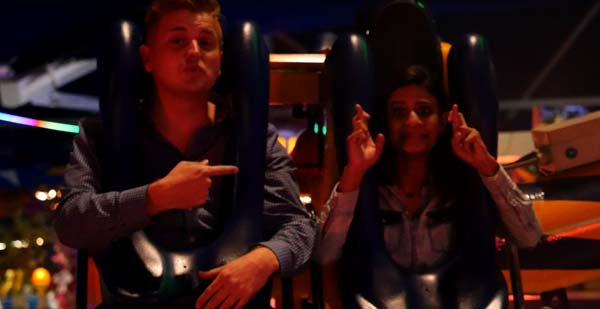 <div class='meta'><div class='origin-logo' data-origin='KTRK'></div><span class='caption-text' data-credit='KTRK'>Steve Campion and Pooja Lodhia try out one of the rides at the State Fair of Texas</span></div>