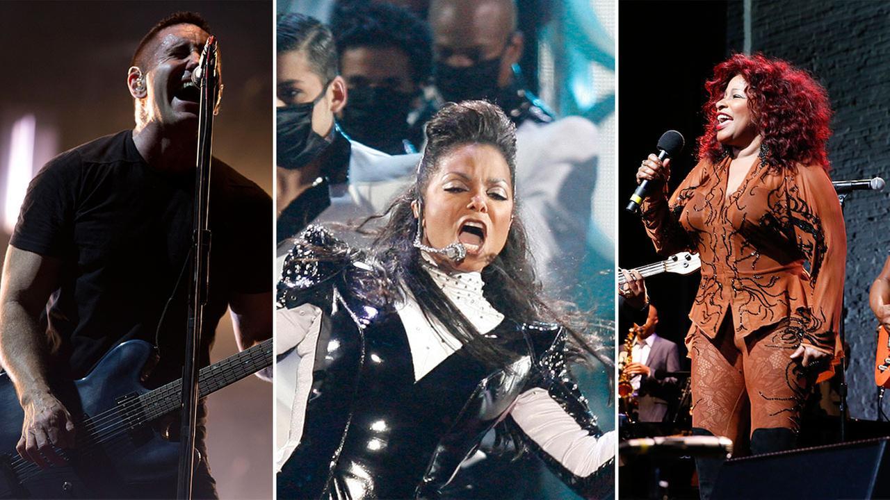 Trent Reznor, Janet Jackson and Chaka Khan