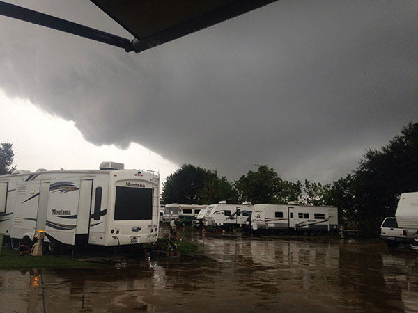<div class='meta'><div class='origin-logo' data-origin='none'></div><span class='caption-text' data-credit='iWitness viewer'>Funnel cloud spotted near Tom Bass Park.  If you have photos, email them to news@abc13.com or upload them using #abc13eyewitness</span></div>