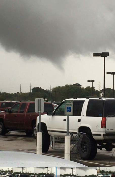 <div class='meta'><div class='origin-logo' data-origin='none'></div><span class='caption-text' data-credit='ABC-13 viewer-submitted photo'>A viewer-submitted photo of what appears to be a funnel cloud in the Houston area</span></div>
