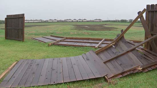 <div class='meta'><div class='origin-logo' data-origin='none'></div><span class='caption-text' data-credit='KTRK Photo'>An overturned fence in the Houston area following severe storms on Saturday, October 24, 2015</span></div>