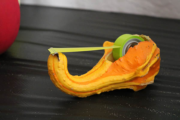 "<div class=""meta image-caption""><div class=""origin-logo origin-image ktrk""><span>KTRK</span></div><span class=""caption-text"">This creation is a tape dispenser made out of a pumpkin as part of Adcetera's 19th annual pumpkin carving contest.</span></div>"