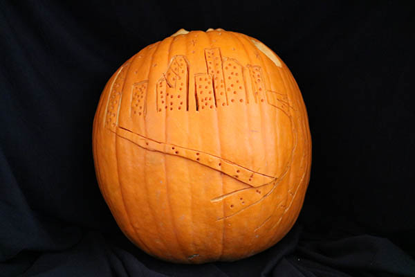 "<div class=""meta image-caption""><div class=""origin-logo origin-image ktrk""><span>KTRK</span></div><span class=""caption-text"">This is ""Downtown-kin"" by Dove Harrell as part of Adcetera's 19th annual pumpkin carving contest.</span></div>"
