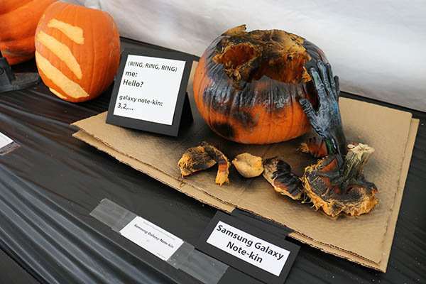 "<div class=""meta image-caption""><div class=""origin-logo origin-image ktrk""><span>KTRK</span></div><span class=""caption-text"">This is ""Samsung Galaxy Note-kin"" by Mike Castillo as part of Adcetera's 19th annual pumpkin carving contest.</span></div>"