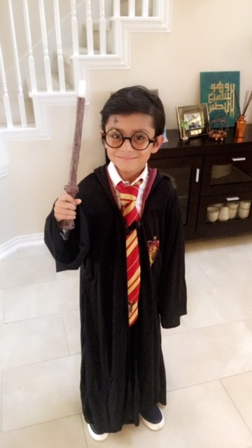 "<div class=""meta image-caption""><div class=""origin-logo origin-image none""><span>none</span></div><span class=""caption-text"">EXPECTO PATRONUM! The son of ABC13 assistant news director Rehan Aslam is making a little magic as Harry Potter.</span></div>"
