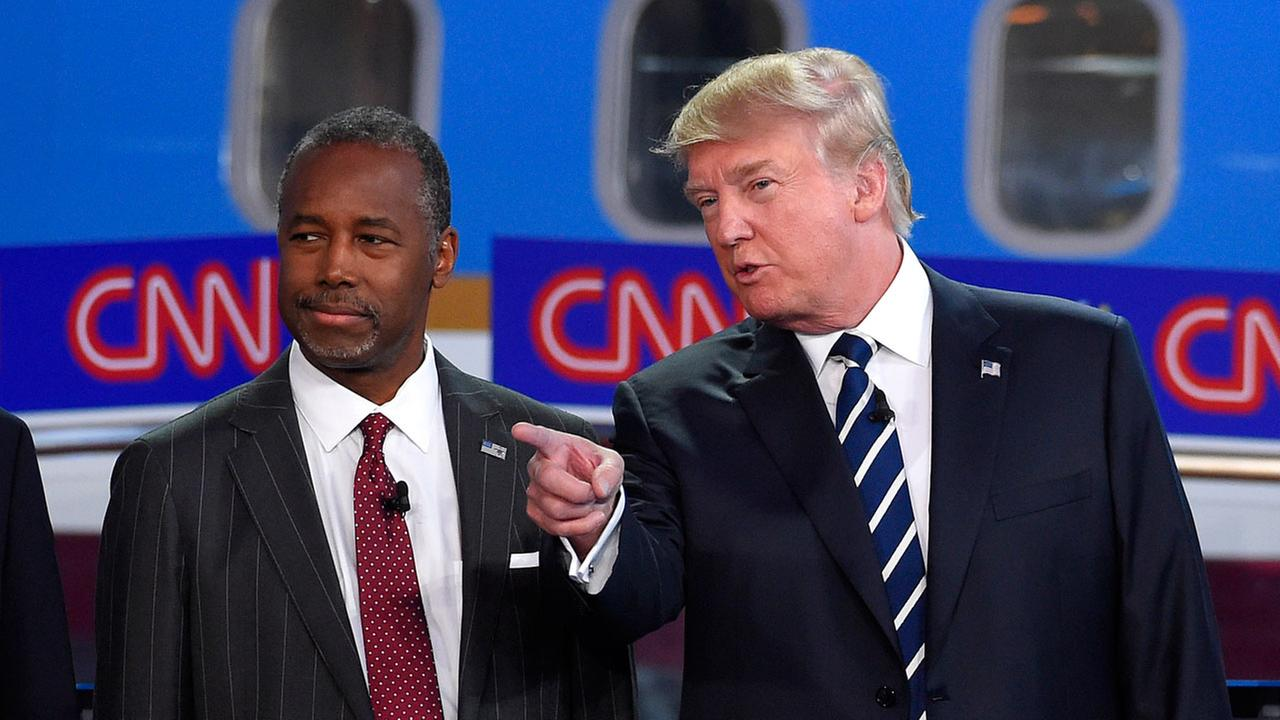 Ben Carson and Donald Trump at Republican Debate