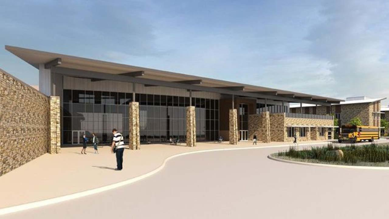 The rear-entry design for Montgomery ISDs second high school.