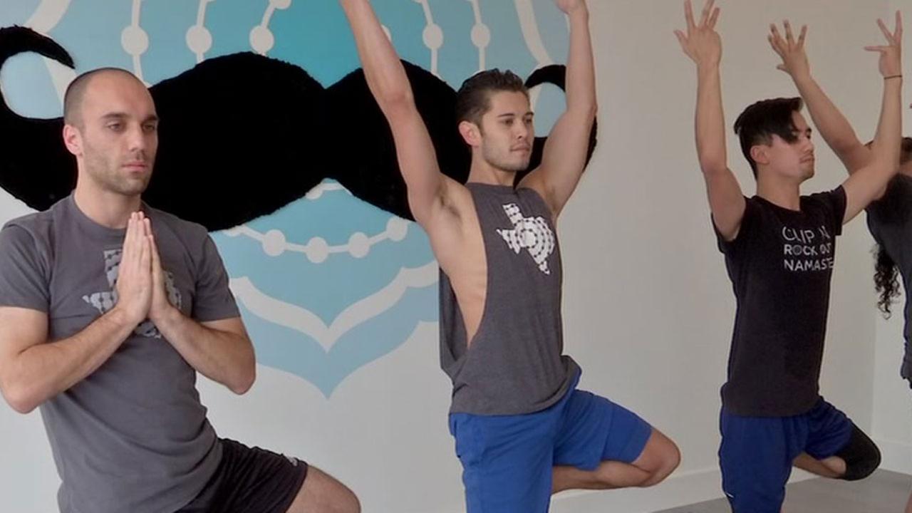 Mens yoga in Houston