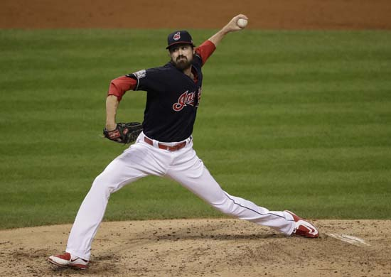 <div class='meta'><div class='origin-logo' data-origin='AP'></div><span class='caption-text' data-credit='AP'>Cleveland Indians relief pitcher Andrew Miller throws during the fifth inning of Game 7 of the Major League Baseball World Series. (AP Photo/Gene J. Puskar)</span></div>