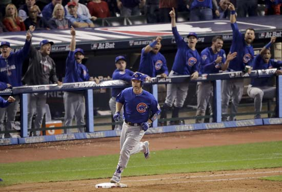 <div class='meta'><div class='origin-logo' data-origin='AP'></div><span class='caption-text' data-credit='AP'>Chicago Cubs' David Ross rounds the bases after a home run against the Cleveland Indians during the sixth inning of Game 7. (AP Photo/Charlie Riedel)</span></div>