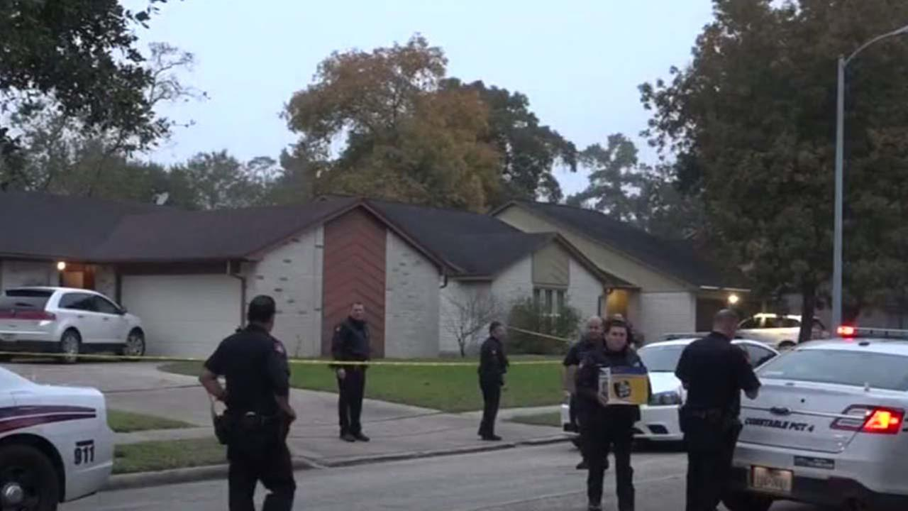 Home invasion scene in Atascocita