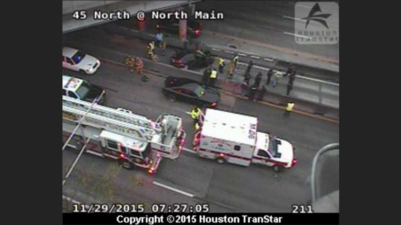 Fatal accident on I-45 southbound at N. Main