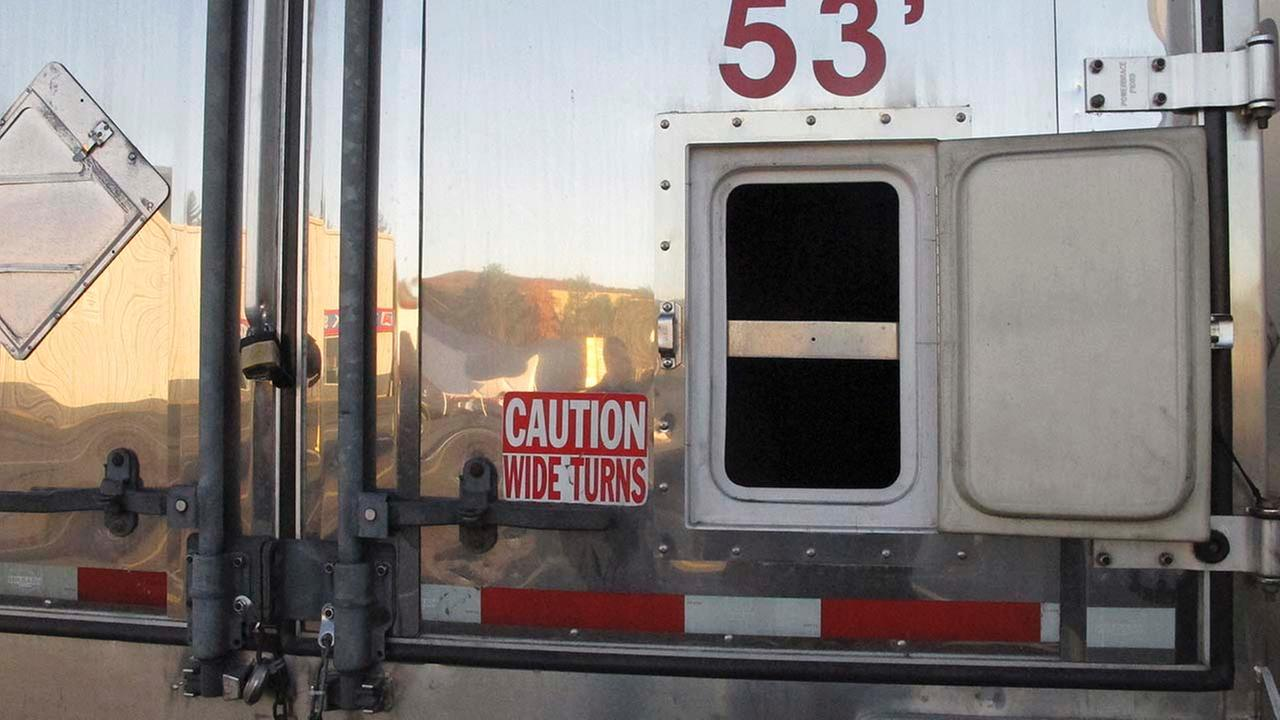 tractor trailer at a truck stop