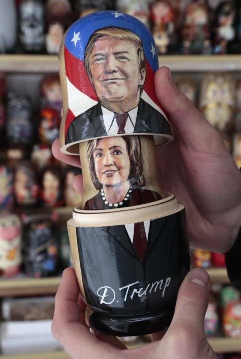 <div class='meta'><div class='origin-logo' data-origin='AP'></div><span class='caption-text' data-credit='AP Photo/Dmitri Lovetsky'>A customer holds a traditional Russian wooden dolls called Matreska depicting US presidential candidates Hillary Clinton and Donald Trump</span></div>