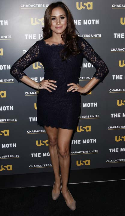 """<div class=""""meta image-caption""""><div class=""""origin-logo origin-image ap""""><span>AP</span></div><span class=""""caption-text"""">Meghan Markle arrives at USA Network and The Moth's """"A More Perfect Union: Stories of Prejudice and Power"""" Characters Unite storytelling even (AP Photo/Matt Sayles)</span></div>"""