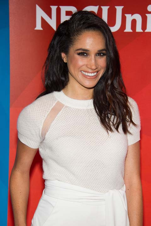 """<div class=""""meta image-caption""""><div class=""""origin-logo origin-image ap""""><span>AP</span></div><span class=""""caption-text"""">Meghan Markle arrives at the NBCUniversal New York Summer Press Day event (Charles Sykes/Invision/AP)</span></div>"""