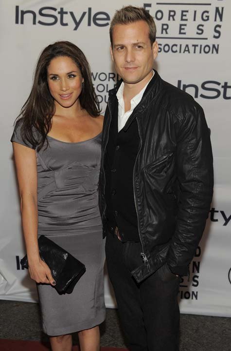 """<div class=""""meta image-caption""""><div class=""""origin-logo origin-image ap""""><span>AP</span></div><span class=""""caption-text"""">Actors Gabriel Macht and Meghan Markle pose together at the 13th Annual InStyle and Hollywood Foreign Press Association Toronto International Film Festival Party (Chris Pizzello/Invision/AP)</span></div>"""