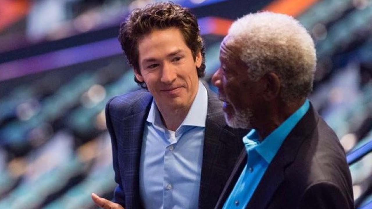 Lakewood Pastor Joel Osteen Morgan Freeman Meet In