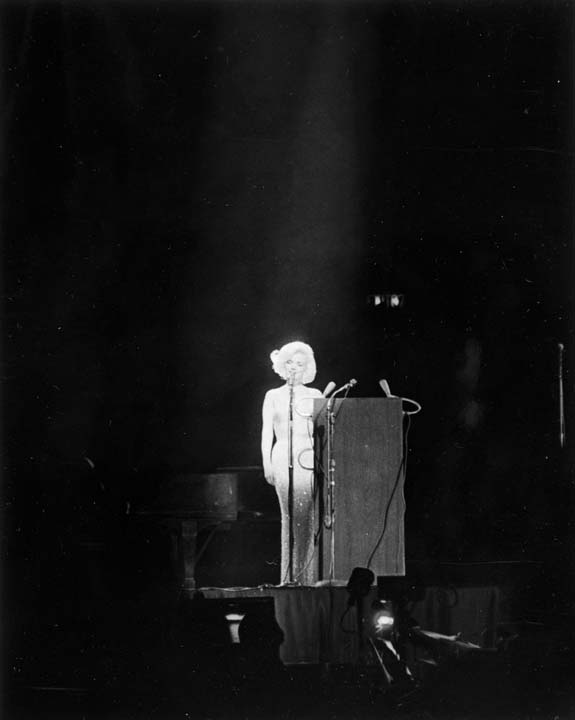 <div class='meta'><div class='origin-logo' data-origin='AP'></div><span class='caption-text' data-credit='Cecil Stoughton/White House Photographs, John F. Kennedy Presidential Library and Museum via AP'>Marilyn Monroe sings &#34;Happy Birthday&#34; to President Kennedy at his 45th birthday celebration at New York's Madison Square Garden</span></div>
