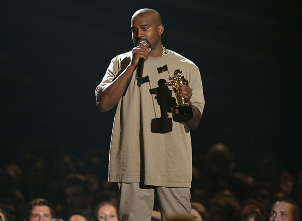 <div class='meta'><div class='origin-logo' data-origin='AP'></div><span class='caption-text' data-credit='Matt Sayles/Invision/AP'>Kanye West accepts the video vanguard award at the MTV Video Music Awards at the Microsoft Theater on Sunday, Aug. 30, 2015, in Los Angeles. (Photo by Matt Sayles/Invision/AP)</span></div>