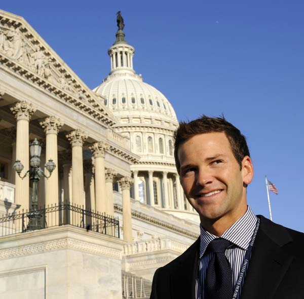 <div class='meta'><div class='origin-logo' data-origin='AP'></div><span class='caption-text' data-credit='AP Photo/Susan Walsh'>Aaron Schock stands on Capitol Hill in Washington</span></div>