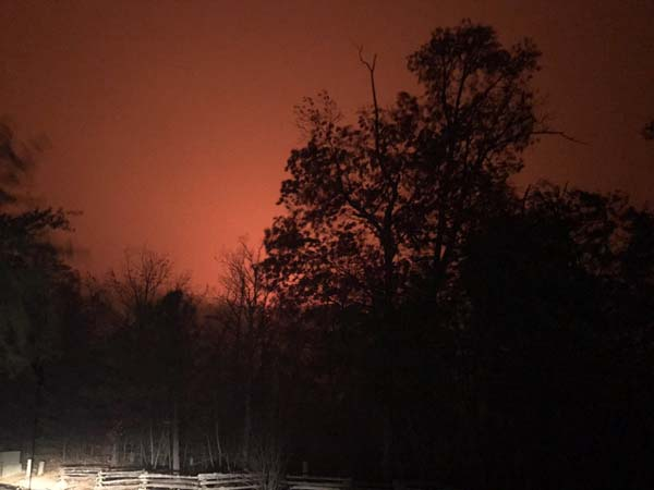 <div class='meta'><div class='origin-logo' data-origin='ABC'></div><span class='caption-text' data-credit='@sarahliz97/Twitter'>Wildfire seen near Pigeon Forge, Tennessee</span></div>