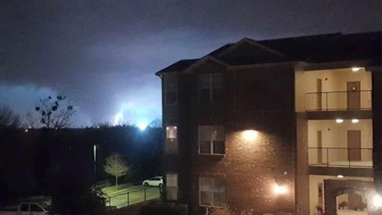 Tornado spotted in Rockwall, Texas. Credit: Ryan Woodruff