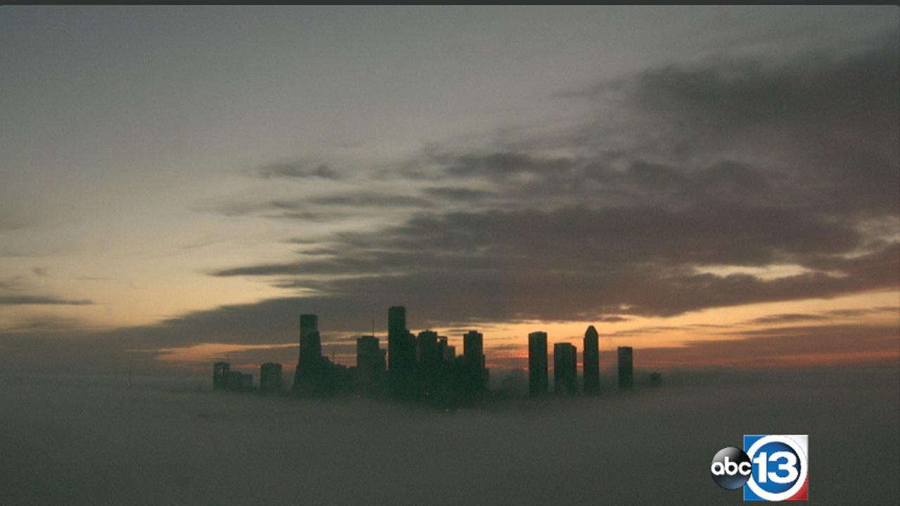 Dense fog in Houston