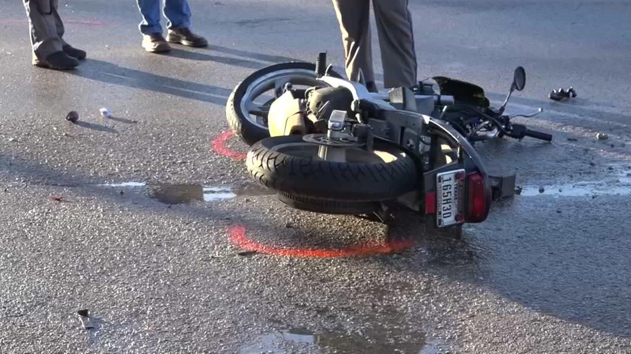 Motorcycle crash in E. Montgomery County
