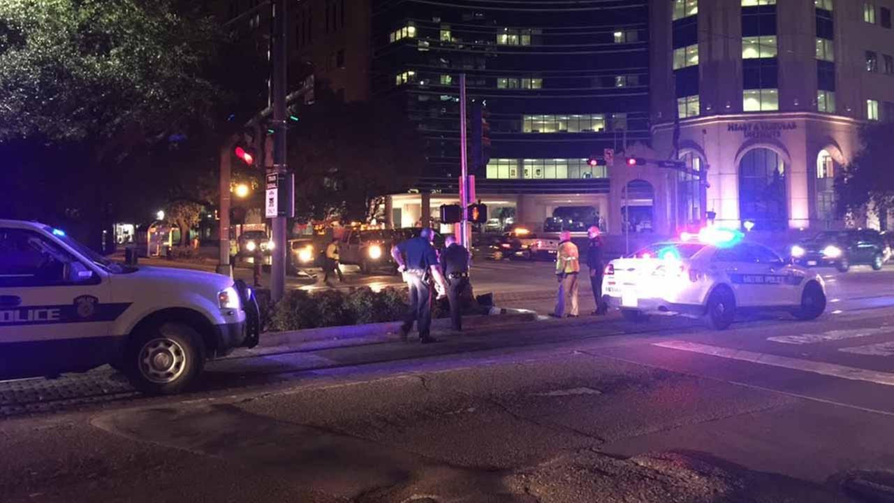 Pedestrian struck by METRORail in Med Center