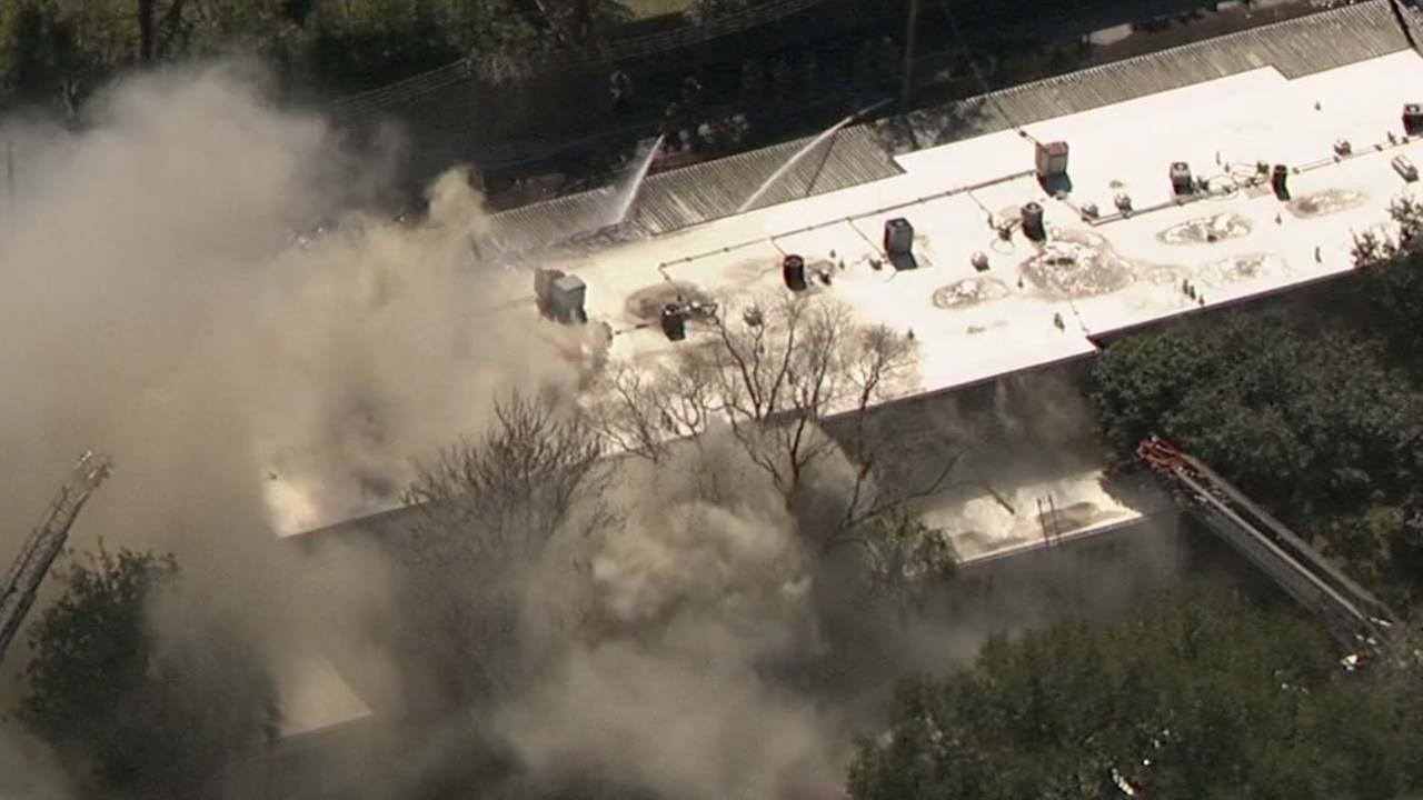 Fire in southwest Houston