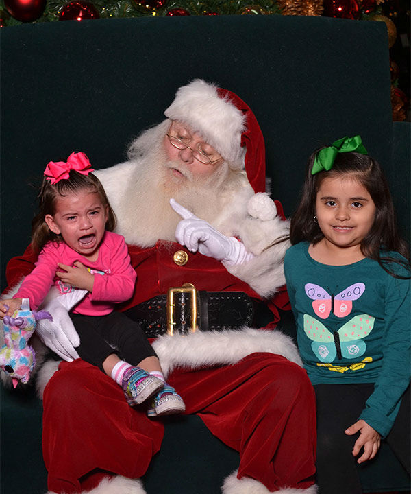 <div class='meta'><div class='origin-logo' data-origin='none'></div><span class='caption-text' data-credit='Photo/iWitness Reports'>These are some of the photos you've been sending to us of kids terrified on Santa's lap.  Send your 'Scared of Santa' pics to us at news@abc13.com</span></div>