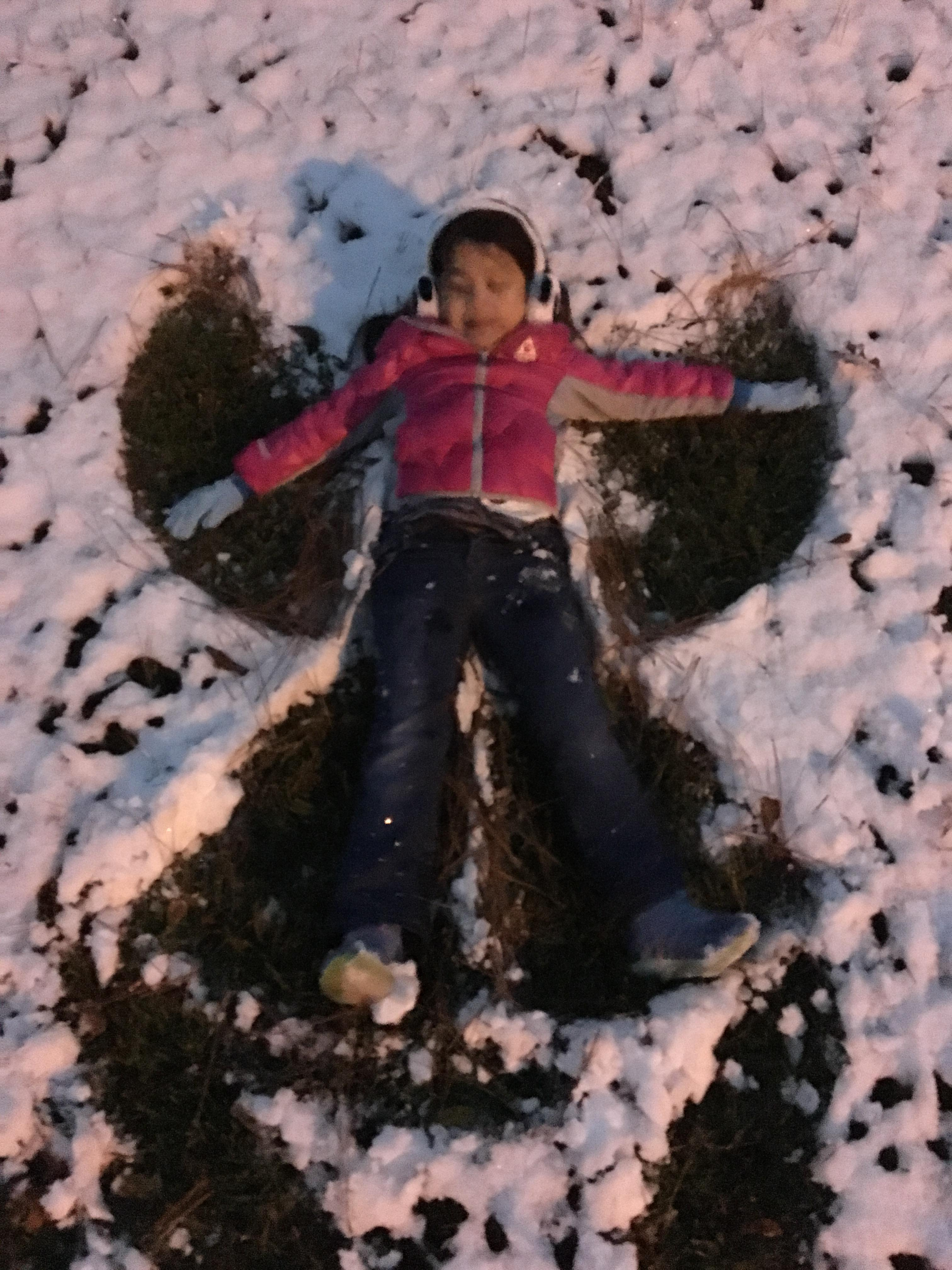 <div class='meta'><div class='origin-logo' data-origin='none'></div><span class='caption-text' data-credit=''>Amber's first snow angel, in Cypress near Danish Elementary</span></div>