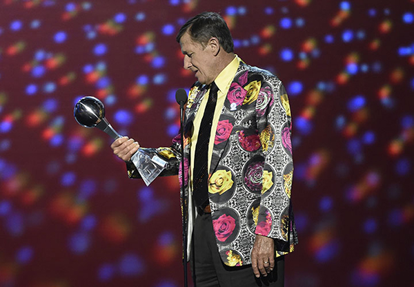 <div class='meta'><div class='origin-logo' data-origin='AP'></div><span class='caption-text' data-credit='AP'>In this July 13, 2016, file photo, Craig Sager accepts the Jimmy V award for perseverance at the ESPY Awards at Microsoft Theater in Los Angeles.</span></div>