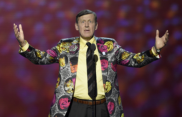 <div class='meta'><div class='origin-logo' data-origin='AP'></div><span class='caption-text' data-credit='Chris Pizzello/Invision/AP'>Craig Sager accepts the Jimmy V award for perseverance at the ESPY Awards at Microsoft Theater on Wednesday, July 13, 2016, in Los Angeles. (Photo by Chris Pizzello/Invision/AP)</span></div>