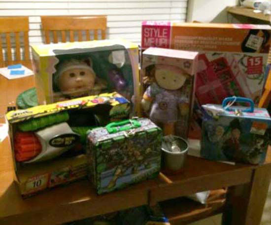 "<div class=""meta image-caption""><div class=""origin-logo origin-image none""><span>none</span></div><span class=""caption-text"">In addition to the $400 Jacob raised to purchase gifts, his friends also donated 15 new toys (KTRK Photo/ Family photo/Janie Morris)</span></div>"