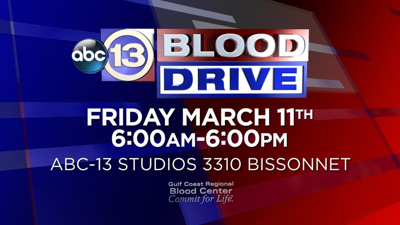 LIVE CHAT: ABC13 Spring Blood Drive