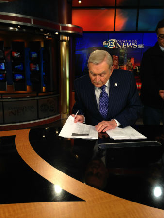<div class='meta'><div class='origin-logo' data-origin='none'></div><span class='caption-text' data-credit=''>Dave Ward signed off the 10pm newscast tonight after 48 years. But he is NOT going anywhere!! He will continue to do the 6pm show.</span></div>