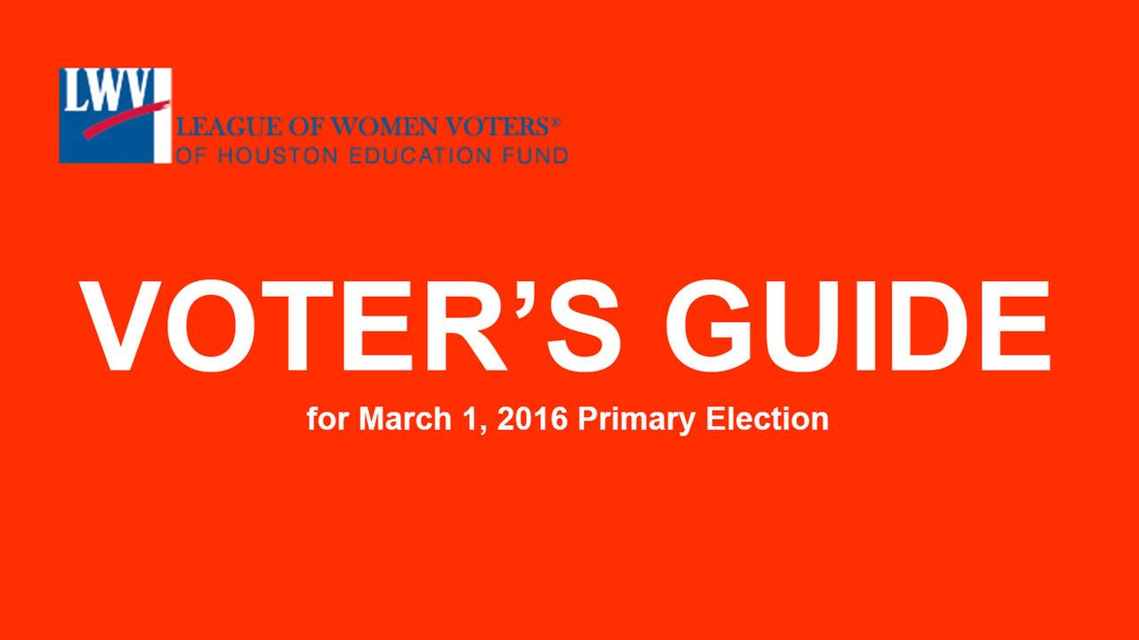 Voter's Guide for Primary Elections