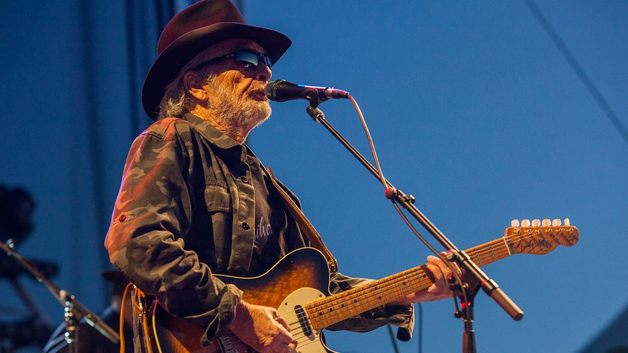Merle Haggard seen at Riot Fest and Carnival in Douglas Park on Saturday, Sept. 12, 2015 in Chicago