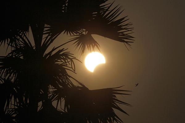 <div class='meta'><div class='origin-logo' data-origin='AP'></div><span class='caption-text' data-credit='AP Photo/Aung Shine Oo'>A partial solar eclipse is seen behind a palm tree in Naypyitaw, Myanmar, Wednesday, March 9, 2016.</span></div>