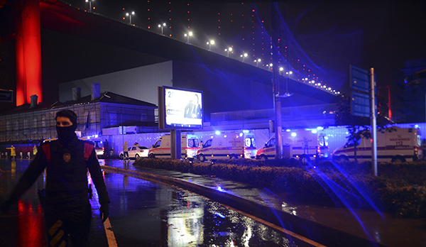 "<div class=""meta image-caption""><div class=""origin-logo origin-image ap""><span>AP</span></div><span class=""caption-text"">Medics and security officials work at the scene after an attack at a popular nightclub in Istanbul, early Sunday, Jan. 1, 2017. (IHA via AP)</span></div>"