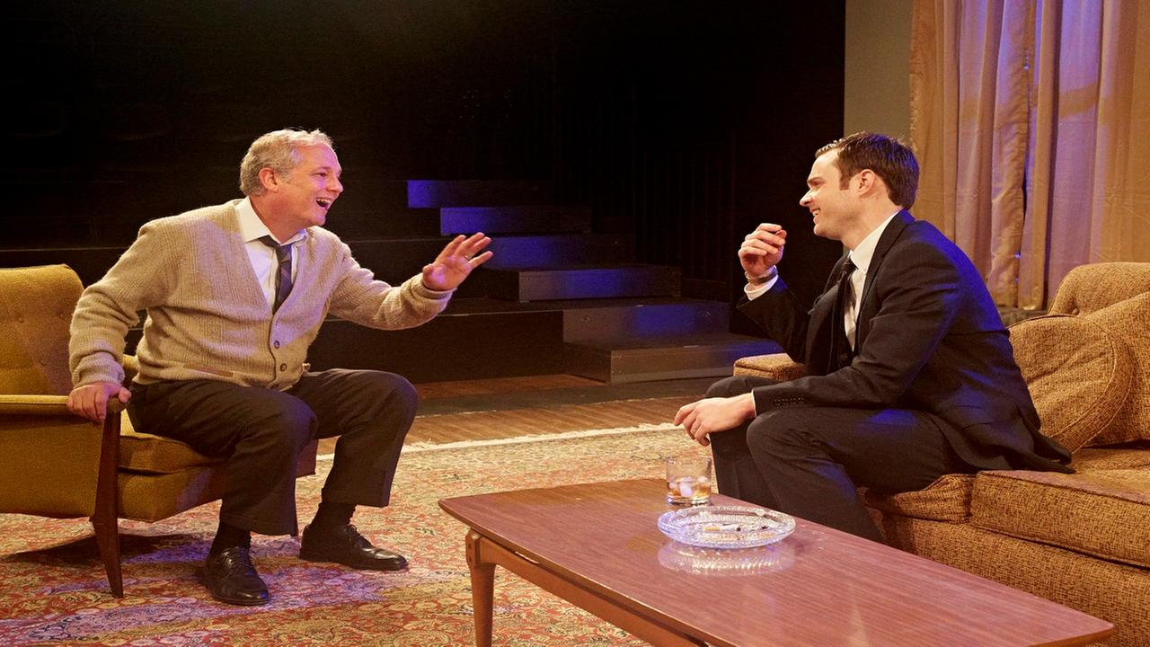 Philp Lehl and Matt Hune have a laugh as George and Nick Gabriella Nissen