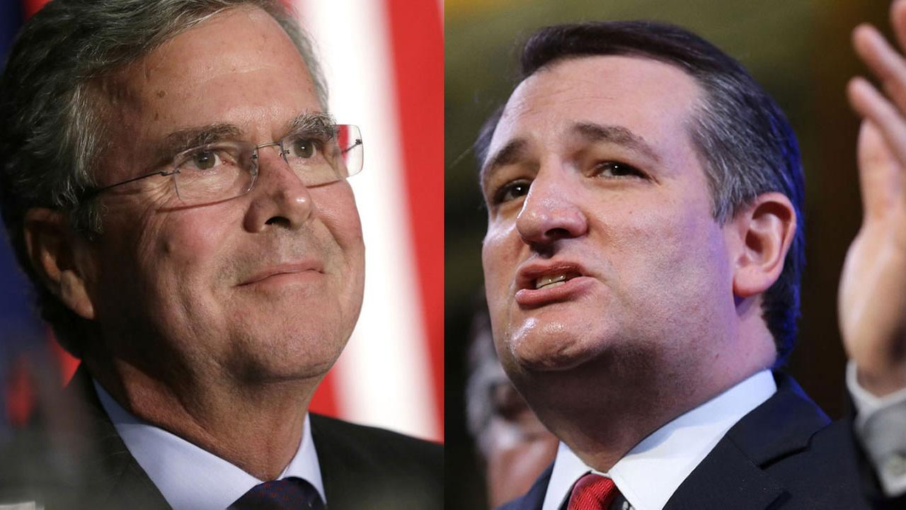 Jeb Bush and Ted Cruz